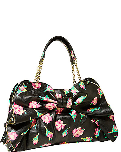 BOW DACIOUS SATCHEL BLACK MULTI
