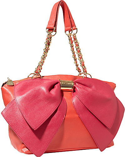 BOW NANZA SATCHEL RED MULTI