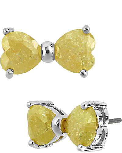 BOW YELLOW EARRING YELLOW