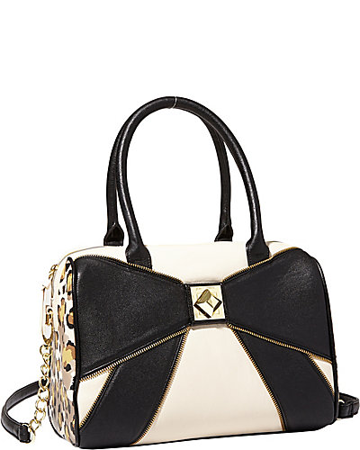 BOW ZIP SATCHEL BLACK