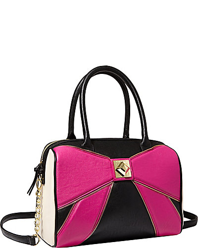 BOW ZIP SATCHEL PINK