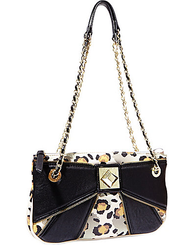 BOW ZIP SHOULDER BAG BLACK