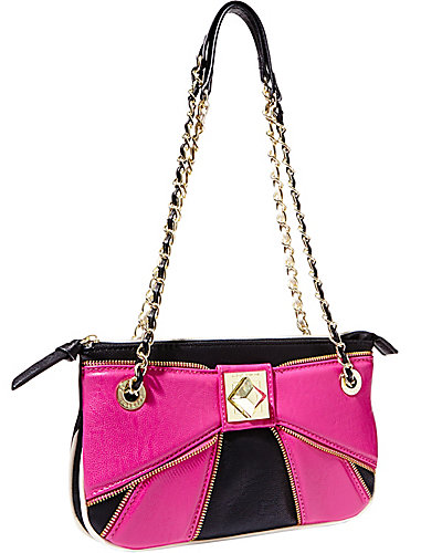 BOW ZIP SHOULDER BAG PINK