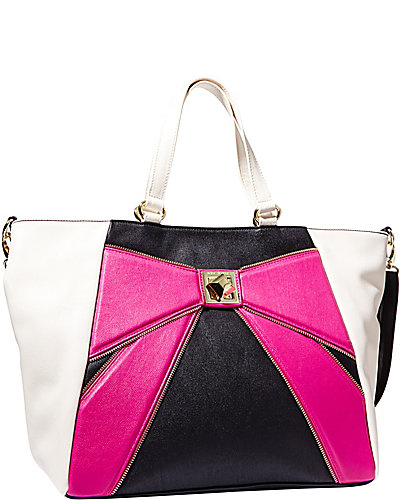 BOW ZIP TOTE PINK
