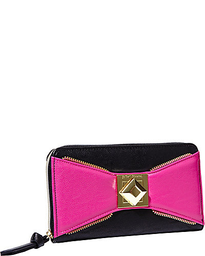 BOW ZIP WALLET PINK