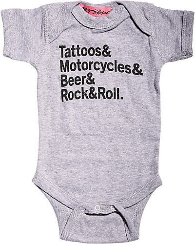 BOY ROCK AND ROLL ONESIE GREY