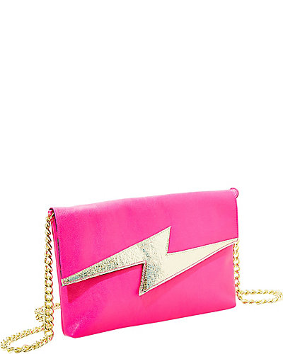 BRIGHT LIGHTS CLUTCH FUSCHIA