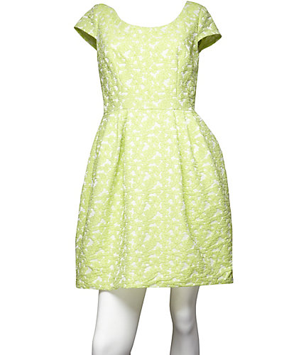 CAP SLEEVE DRESS GREEN