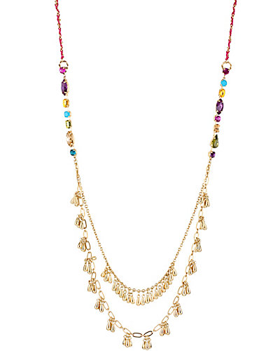 CARNIVAL 2 ROW LONG NECKLACE MULTI