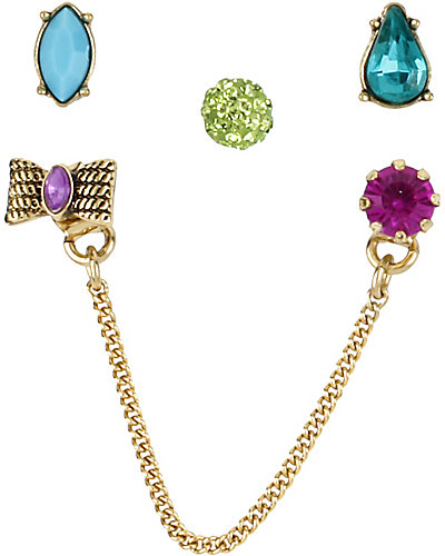 CARNIVAL 5 PC EARRING SET MULTI