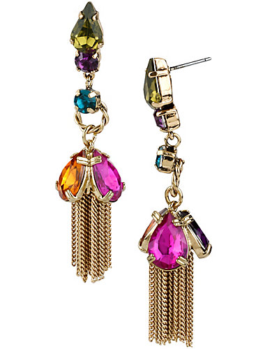 CARNIVAL JEWEL TASSLE EARRING MULTI
