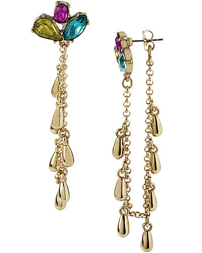 CARNIVAL LINEAR 3 ROW EARRING MULTI