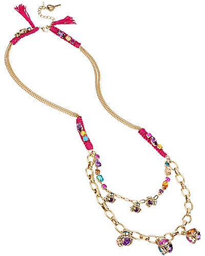 CARNIVAL LONG TASSLE NECKLACE MULTI