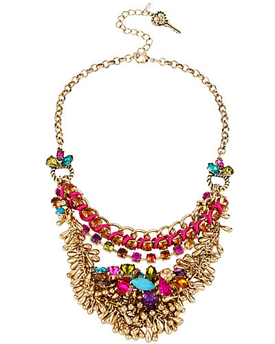 CARNIVAL MULTI CHAIN NECKLACE MULTI