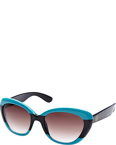 CATEYE WITH COLOR BLOCKING BLACK-TURQUOISE