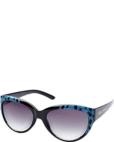 CATEYE WITH LEOPARD FRONT BLUE