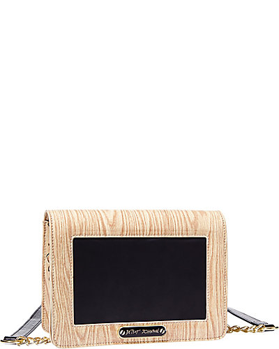 CHALKBOARD CROSSBODY TAN