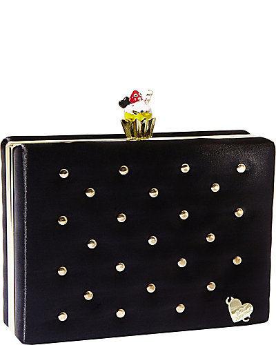 CHARM CUPCAKE TOPPER EVENING CLUTCH BLACK