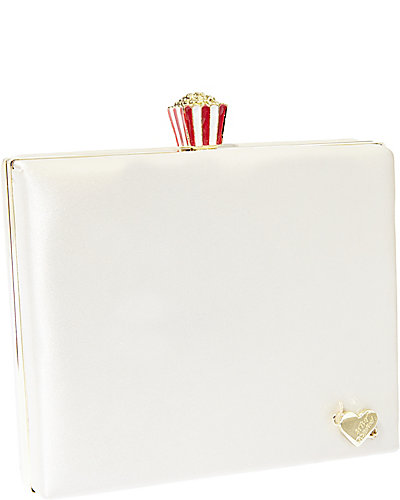 CHARM POPCORN TOPPER EVENING CLUTCH CREAM