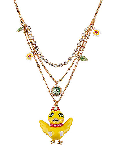 CHICKADEE MULTI ROW NECKLACE YELLOW