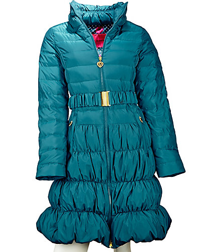 CLASSIC BETSEY ANGEL DOWN COAT TEAL