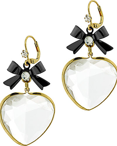 CLEAR HEART DROP EARRING CLEAR