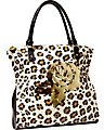 CLEAR TO ME TOTE LEOPARD
