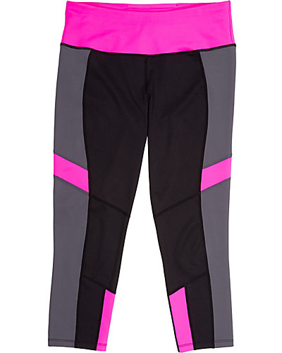 COLORBLOCK CROP LEGGING PINK