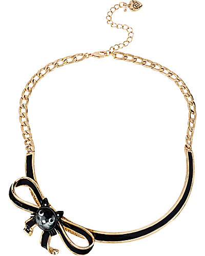 CREEPSHOW CAT BOW NECKLACE GOLD