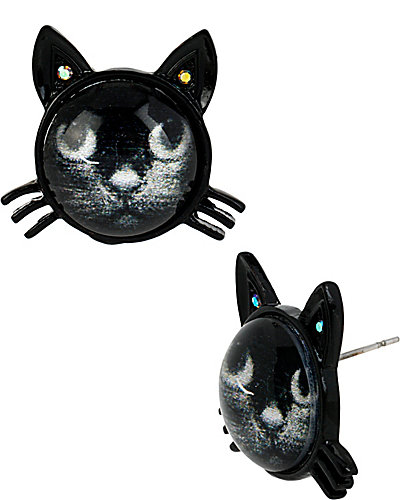 CREEPSHOW CAT STUD BLACK