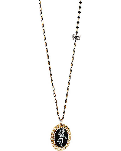 CREEPSHOW DANCING SKULL LOCKET NECKLACE BLACK