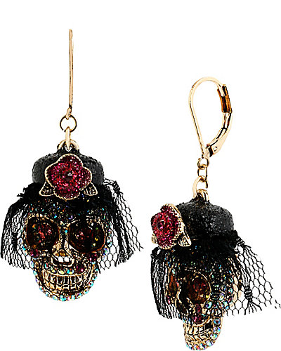 CREEPSHOW SKULL FLOWER DROP PINK