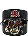 CREEPSHOW SKULL LEATHER CUFF MULTI