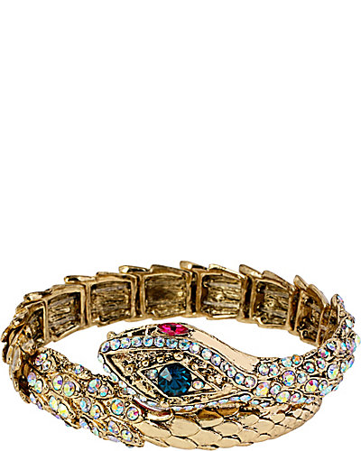CREEPSHOW SNAKE WRAP STRETCH BRACELET CRYSTAL