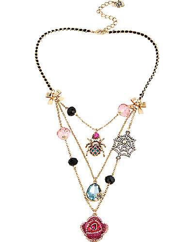 CREEPSHOW SPIDER WEB ILLUSION NECKLACE MULTI