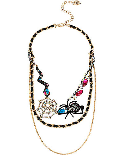CREEPSHOW SPIDER WEB MULTI NECKLACE MULTI