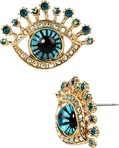 CRITTER STATEMENT EYE STUD EARRING MULTI