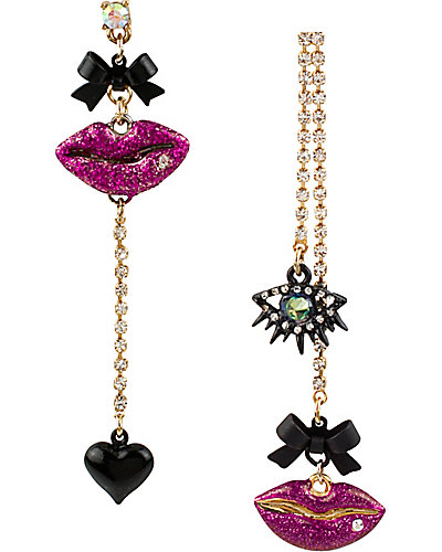 CRITTER STATEMENT LIPS EARRING MULTI