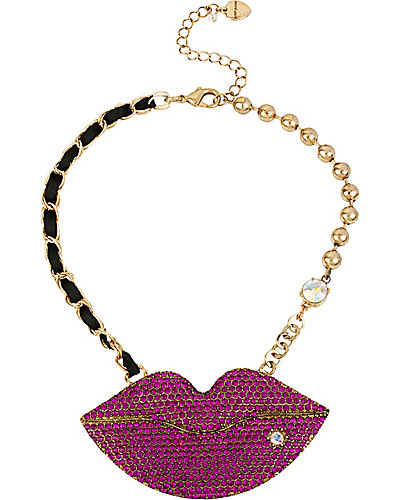 CRITTER STATEMENT LIPS NECKLACE MULTI