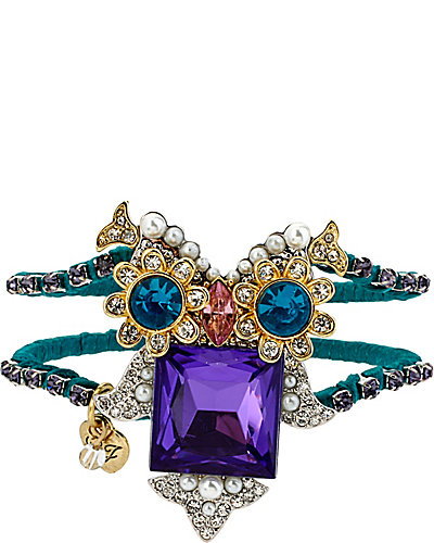 CRITTER STATEMENT OWL HINGED BANGLE MULTI