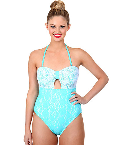 CROCHET CUTIE ONE PIECE TEAL