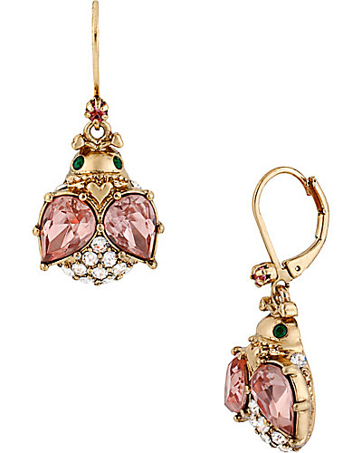 CRYSTAL BUG DROP EARRING MULTI