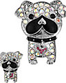 CRYSTAL BULLDOG PIN SET MULTI