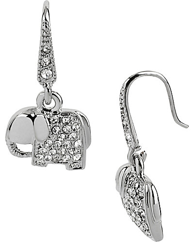 CRYSTAL ELEPHANT DROP EARRING CRYSTAL