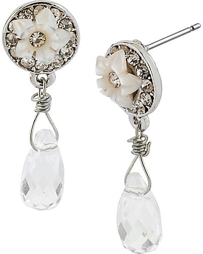 CRYSTAL FLOWER DROP EARRING TOO CRYSTAL