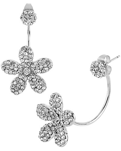 CRYSTAL FLOWER DROP EARRING CRYSTAL