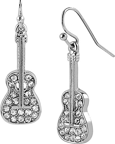 CRYSTAL GUITAR DROP EARRING CRYSTAL