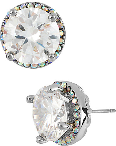 CRYSTAL MEDIUM STUD EARRING CRYSTAL