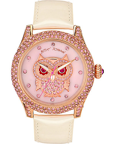 CRYSTAL OWL WATCH WHITE