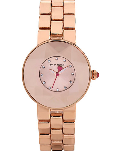 CRYSTAL ROSE GOLD WATCH ROSE GOLD